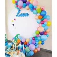 100Pcs Balloon Garland & Arch Kit-100pcs Latex Balloons, 16 Feets Arch Balloon Decoration Strip for Baby Shark Party Baby Shower Birthday Party Backdrop