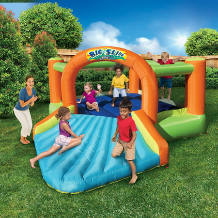 Banzai Big Slide Bouncer (Inflatable Jumping Bounce House Backyard Summer Bouncing Jump Castle)