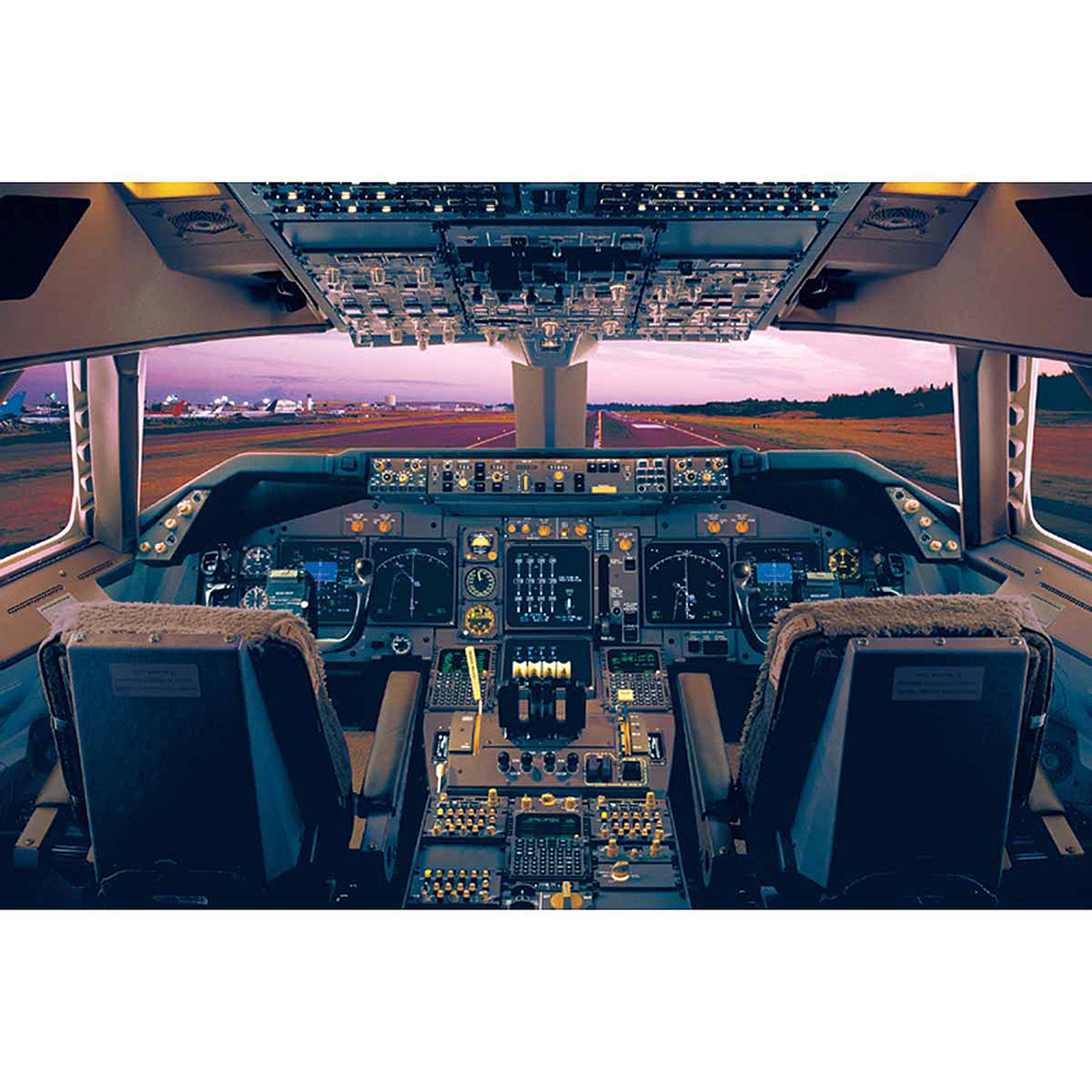 Airplane-Boeing747-400 Deck Photography Art