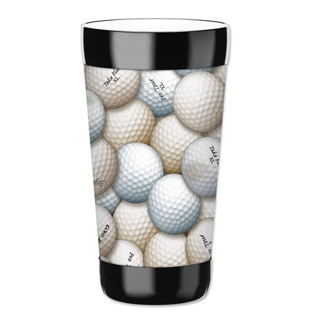 Mugzie 16-Ounce Tumbler Drink Cup with Removable Insulated Wetsuit Cover - Golf Balls](Kill Bill Suit)