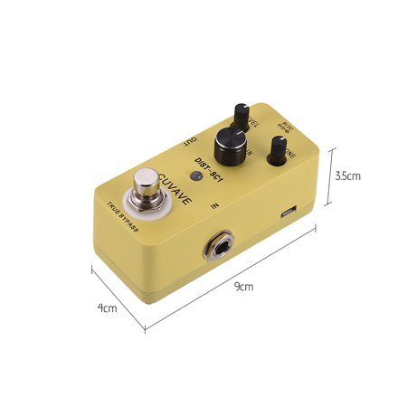 Classic Distortion Guitar Effect Pedal True Bypass Full Metal Shell - image 6 of 6