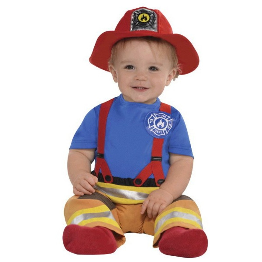 First Fireman Costume Boys Infant 0-6 Months Baby Firefighter