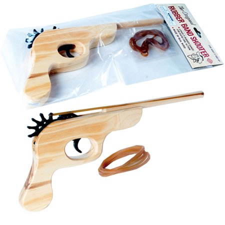 Wooden Gun Rubber Band Shooter