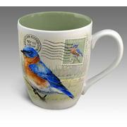 American Expedition Bluebird Vintage Bird Postcard Stoneware Coffee Mug