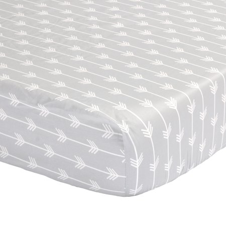 the peanut shell baby crib fitted sheet grey arrow chevron print 100 cotton sateen fits. Black Bedroom Furniture Sets. Home Design Ideas