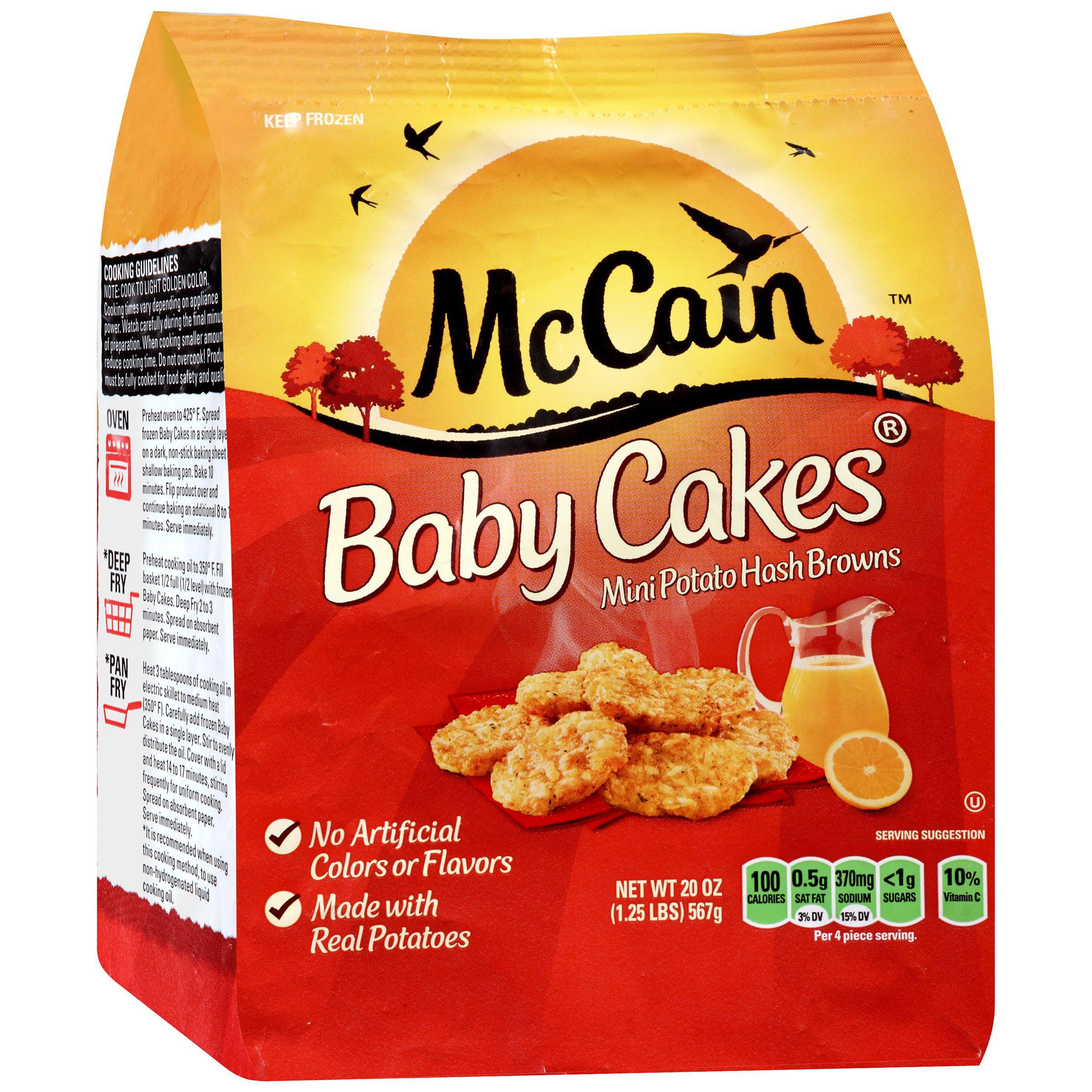 Mccain Baby Cakes Mini Potato Hash Browns 20 Oz Bag Walmart Com