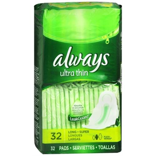 Always Ultra Thin with Flexi-Wings, Super Long 32 ea (Pack of 3)