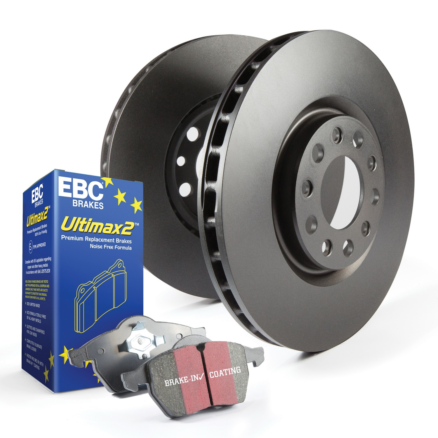 EBC Brakes S20K1709 S20 Kits Ultimax and Plain Rotors