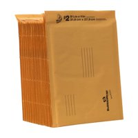 Duck Kraft Bubble Mailers, #2 (8.5 in. x 11 in.), Self-Sealing, 25-Count