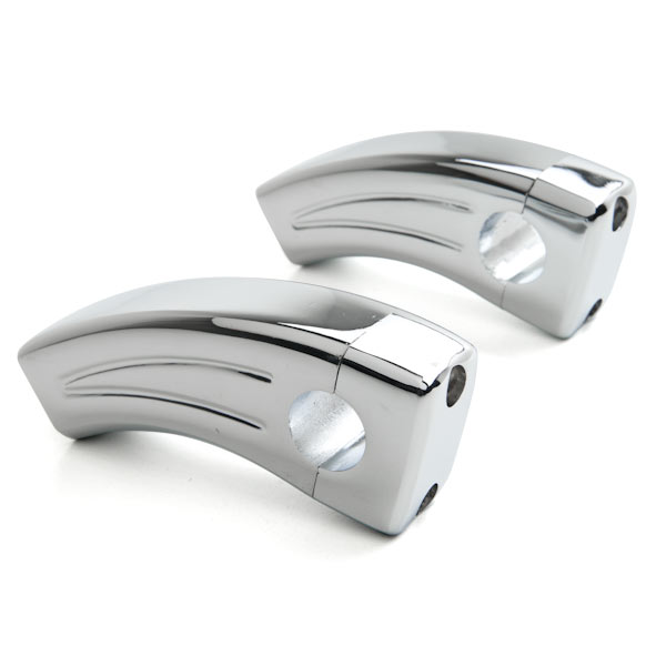 "3.5"" Chrome Bike Handlebar Pullback Risers 7/8"" For Yamaha RZ TZ TD TDM 250 350 700 750 850 1000 Fazer - image 3 of 4"