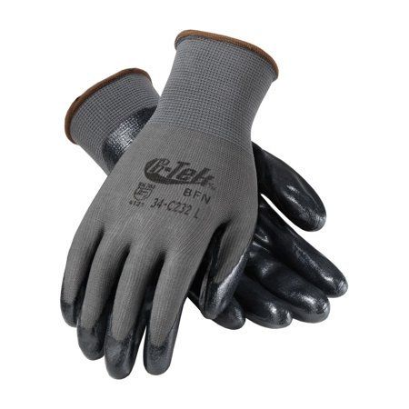 G-Tek 34-C232/L Seamless Knit Nylon Glove with Nitrile Coated Foam Grip on Palm and Fingers, Economy Grade, This Product is X-Emboss Ear Plugs By GTek
