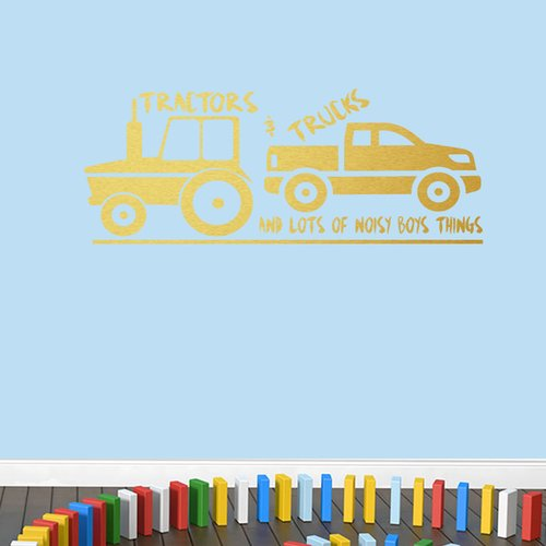 Zoomie Kids Tractors & Trucks Wall Decal