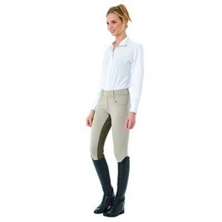 - Ovation Euro Pull On Tights - Ladies Full Seat - Size:XLarge Color:Storm