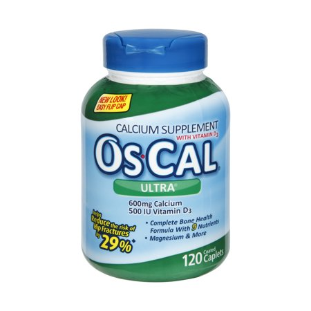 Os Cal Ultra Calcium And Vitamin D3 Supplement  Coated Caplets  120 Count