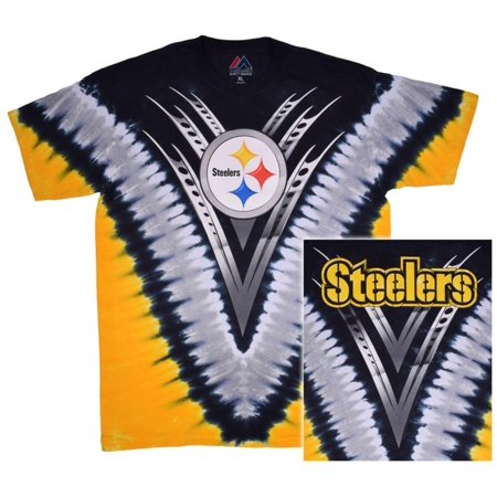 NFL: Steelers Logo V-Dye Apparel T-Shirt - Tie Dye