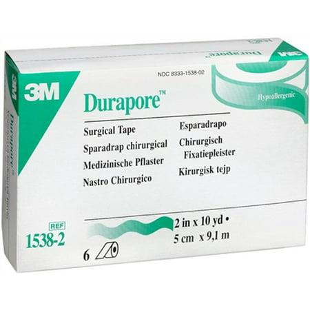 - Durapore Medical Tape, Silk-Like Fabric, 2 Inch X 10 Yards, 3M # 1538-2 - Box of 6