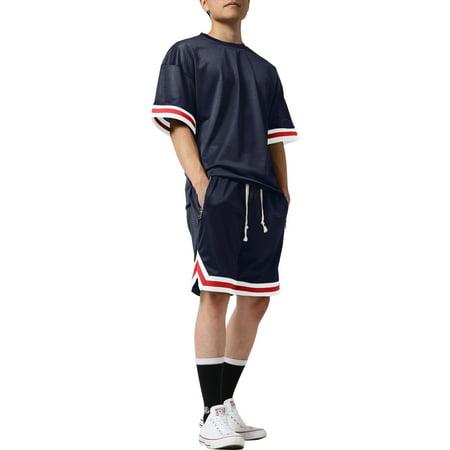 7d7a81ef7 Ma Croix - Mens Mesh Shirt Short Sleeve T-Shirt Urban Fashion Hip Hop Crew  Neck Tee Sports Activewear - Walmart.com