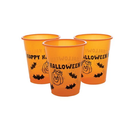 Fun Express - Happy Halloween Disposable Cups (50pc) for Halloween - Party Supplies - Drinkware - Disposable Cups - Halloween - 50 Pieces - Halloween Express Coupon In Store