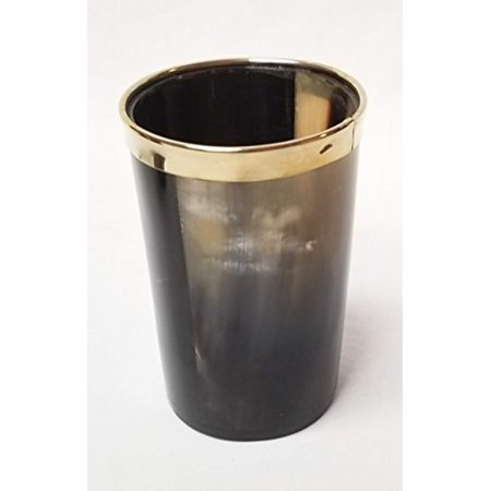 Gold Rim Water (Genuine Hallowed Water Buffalo Horn with Golden Rim)