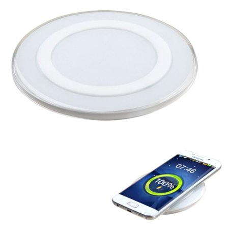 Insten Fast Charge Cell Phone Wireless Charging Pad for Samsung Galaxy S9 S9+ S8 S8+ S7 S6 Note 8 Apple iPhone X 8 Plus AirPods 2 Sony Xperia XZ2 - White