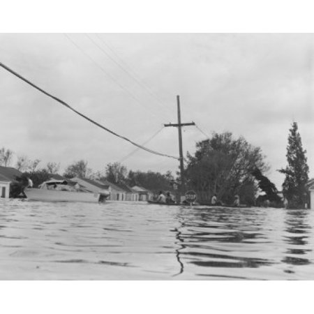 USA Louisiana New Orleans Floods during hurricane Betsy Stretched Canvas -  (18 x