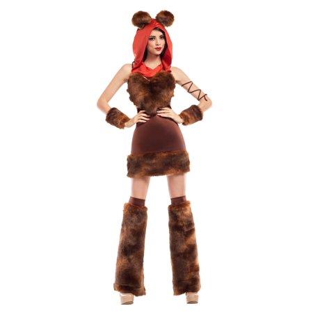 Womens Cute Furry Space Creature Costume - Creature Reacher Costumes