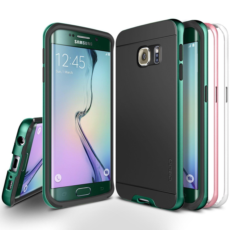 OBLIQ, Galaxy S6 Edge Case [Dual Poly Bumper][Gold,Silver,and Black] Dual Layer Bumper Slim Matted Back Anti Scratch Protective Cover for Galaxy S6 Edge