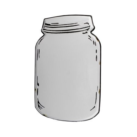 White Tin Farmhouse Mason Jar Magnetic Memo Board