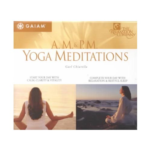 "A.M. & P.M. YOGA MEDITATIONS are available separately on The Relaxation Company label.<BR>Along with a simple backing of bansuri flute and harmonium, Gael Chiarella leads listeners on eight different guided meditations. Chirella's soothing voice is like a cool hand on a feverish forehead, as she leads meditations appropriate for morning (disc one) and evening (disc two). The ""A.M."" meditations focus on energizing and balancing, and the ""P.M."" meditations encourage letting go and resting."