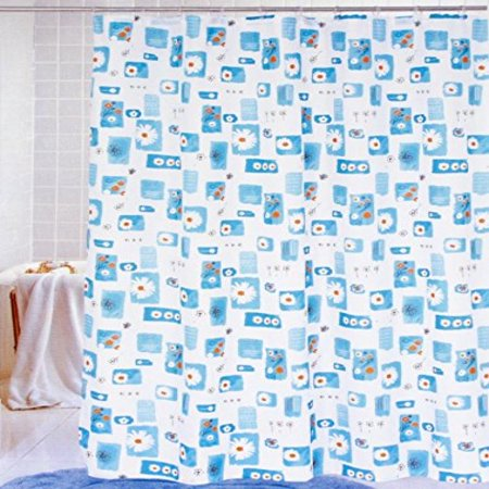Blue Daisies Nylon 70 X Inch Shower Curtain