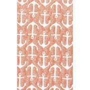 Nuloom  Indoor/ Outdoor Novelty Nautical Anchors Rug (5' x 8')