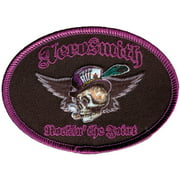 Aerosmith Men's Top Hat Skull Embroidered Patch Black