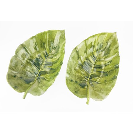 Mainstays Melamine Figural Leaf Serve Tray, 2-Pack - Melamine Display Tray