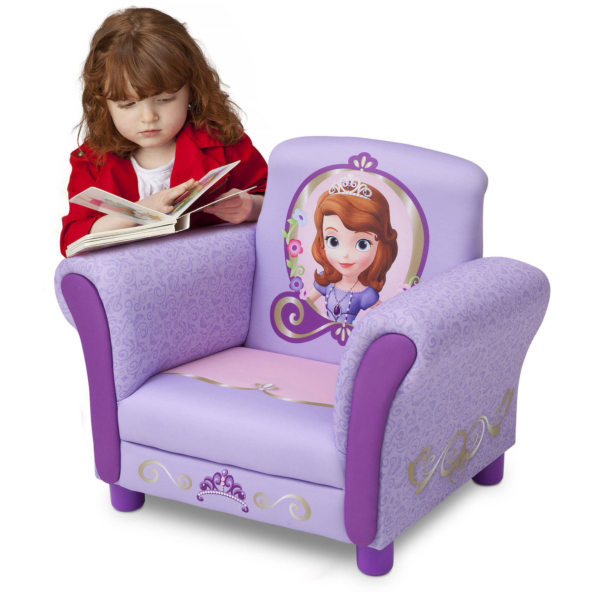 Delta Disney Sophia the First Upholstered Chair, Lavender