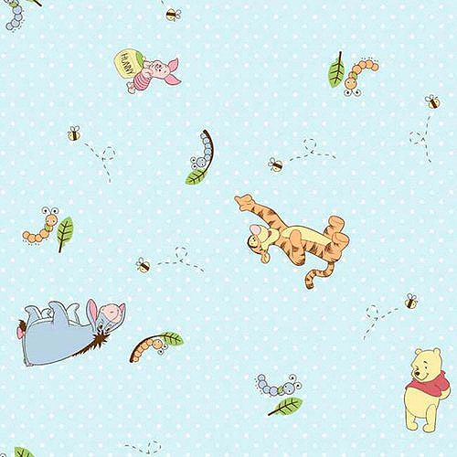 Disney Pooh Caterpillar And Bees Fabric