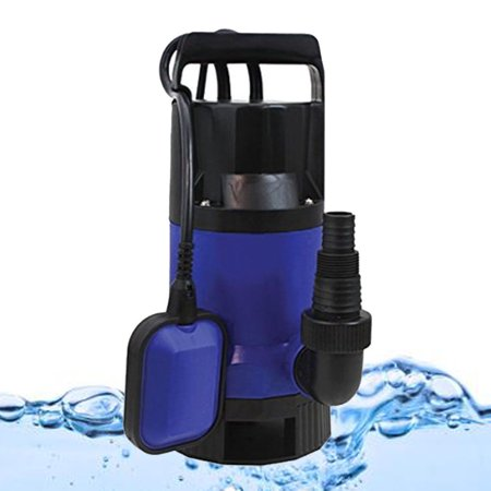 Ktaxon Sump Pumps, 1 HP Plastic Well Submersible Dirty Sewage Clean Water Transfer Pump, Heavy Duty Utility Pump, Blue