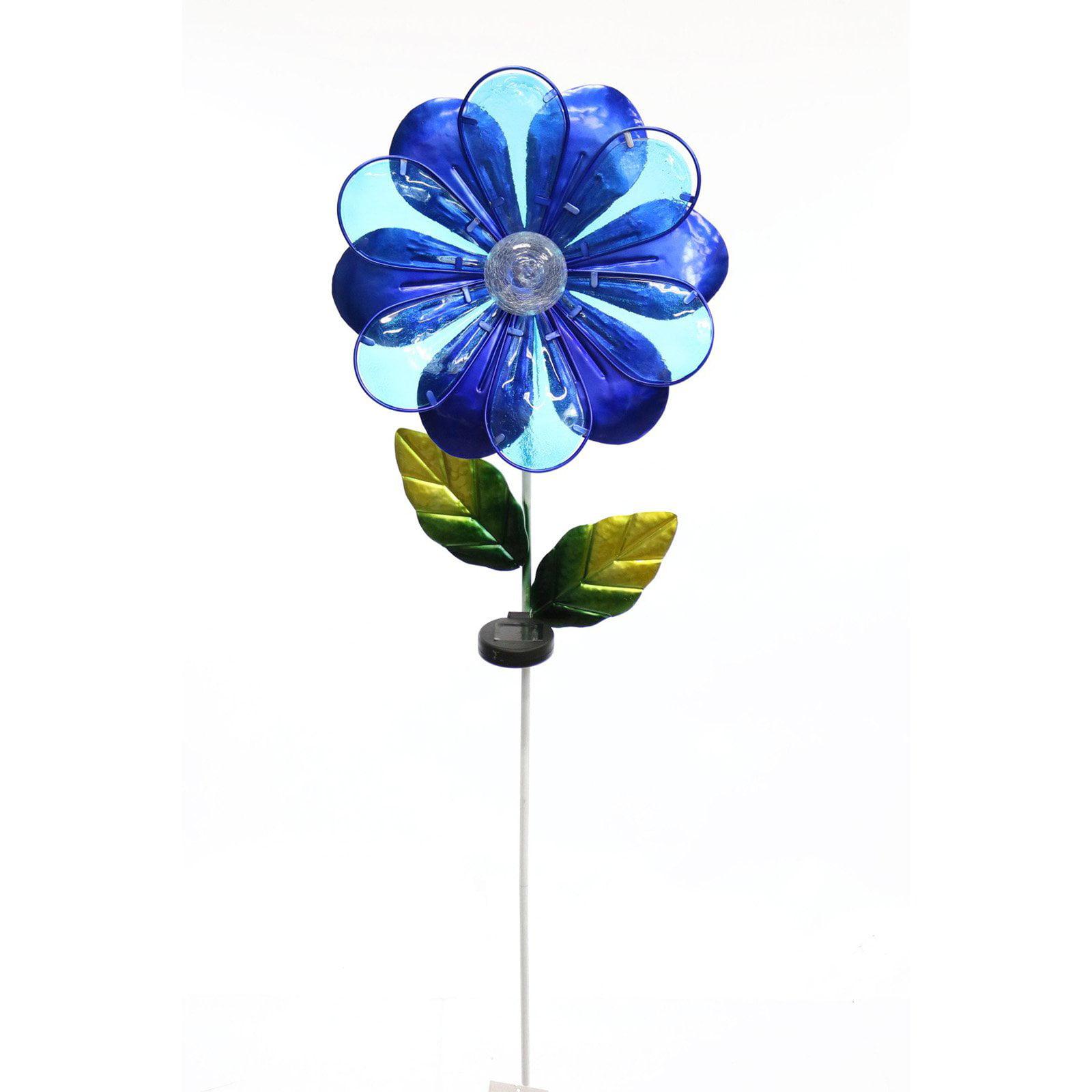 Solar Blue Flower Garden Stake by Alpine Corporation