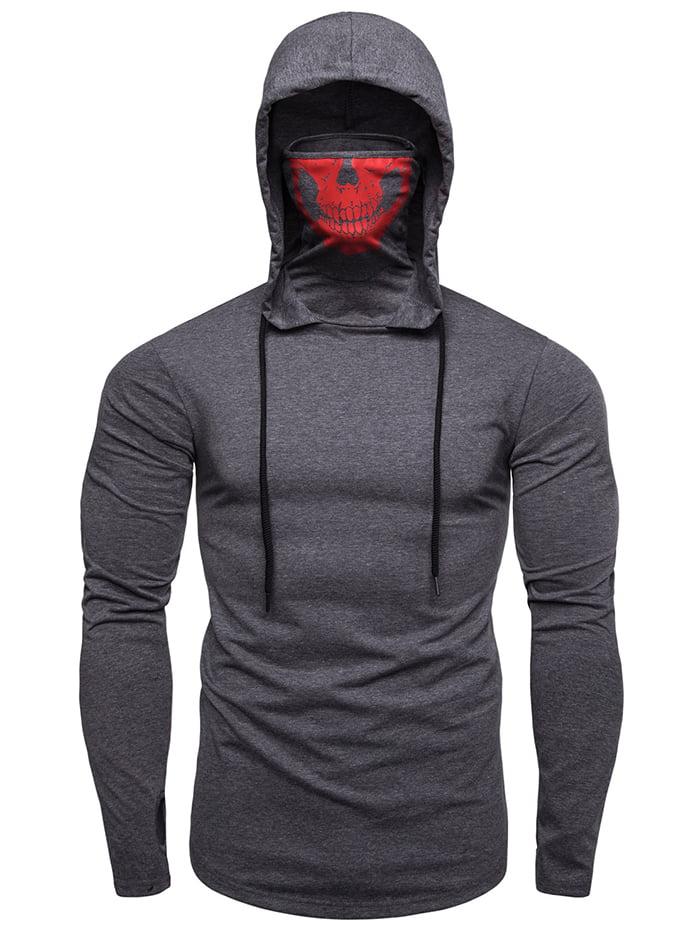 Men/'s Pullover Hoodie Pleated Raglan Long Sleeve T-Shirt Slim Fit Sweatshirt