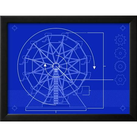 Ferris wheel blueprint framed art print wall art by bigldesign ferris wheel blueprint framed art print wall art by bigldesign walmart malvernweather Images