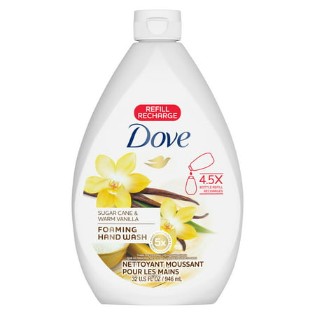 Dove Foaming Hand Wash Refill, Sugar Cane & Warm Vanilla, 32