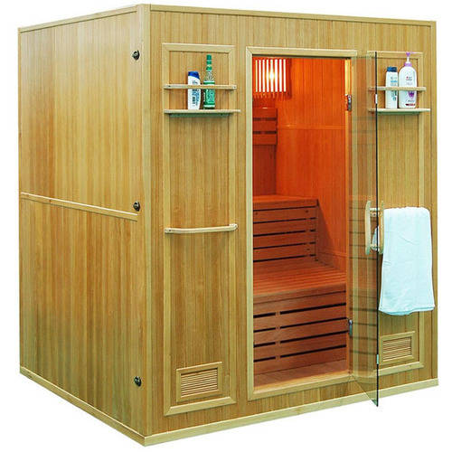 ALEKO SEN4BUG 4-Person Canadian Hemlock Wood Indoor Wet Dry Sauna with 4.5 KW ETL... by ALEKO