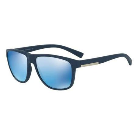0fa9770fe6d ARMANI EXCHANGE - ARMANI EXCHANGE Sunglasses AX 4052S 818155 Matte Blue  58MM - Walmart.com