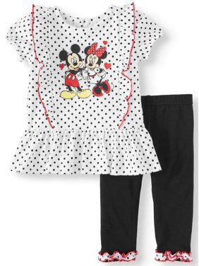 d38dd3951418 Product Image Short Sleeve Ruffle Tunic Top & Leggings, 2pc Outfit Set (Baby  Girls)