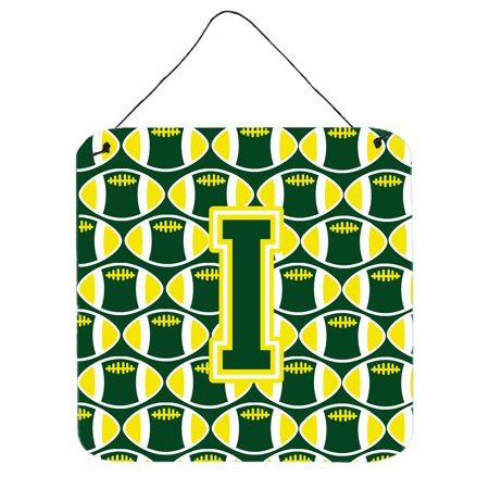Yellow Letter (Letter I Football Green and Yellow Wall or Door Hanging Prints)