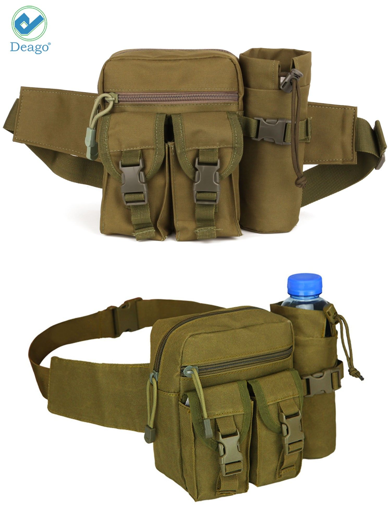 Men/'s Tactical Waist Bag for Outdoor Workout Travel Running Hiking Cycling Black