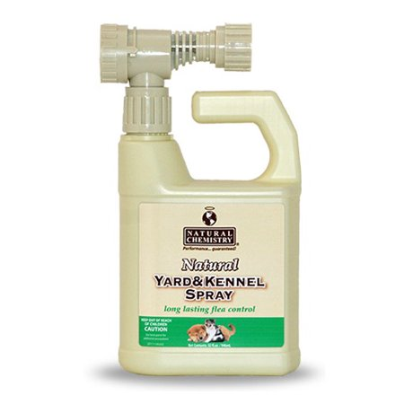 Natural Chemistry Natural Yard and Kennel Flea & Tick Spray with Convenient Hose -End Sprayer Hookup. 32oz bottle covers up to 4, 500 sq