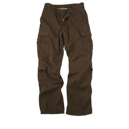 Chocolate Brown Vintage Paratrooper Cargo Pants