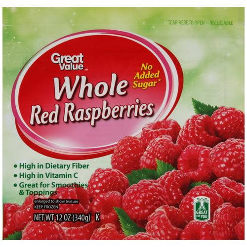 Great Value Red Raspberries, 12 oz