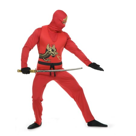 Ninja Avenger Costume (Adult's Mens Red Ninja Avenger Series 2 Martial Arts)