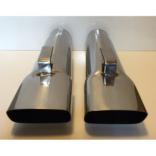 3 mopar a body dodge demon dart duster plymouth stainless exhaust tips pair